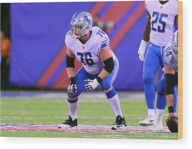 American Football Wood Print featuring the photograph NFL: SEP 18 Lions at Giants by Icon Sportswire