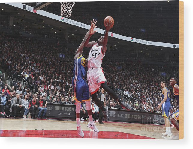 Playoffs Wood Print featuring the photograph Pascal Siakam by Nathaniel S. Butler