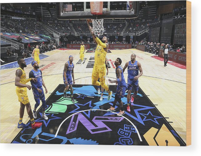 Atlanta Wood Print featuring the photograph Paul George by Nathaniel S. Butler