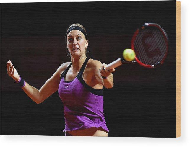 Tennis Wood Print featuring the photograph Porsche Tennis Grand Prix - Day 2 by Dennis Grombkowski