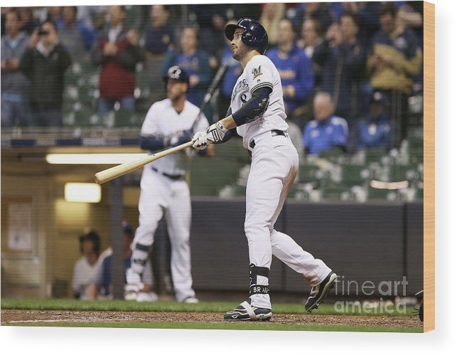 Ninth Inning Wood Print featuring the photograph Ryan Braun by Dylan Buell