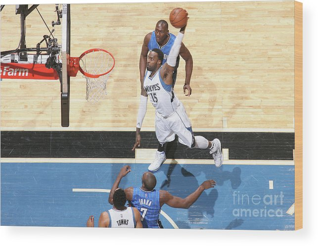 Nba Pro Basketball Wood Print featuring the photograph Shabazz Muhammad by David Sherman