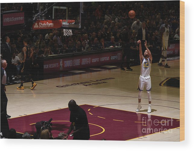 Playoffs Wood Print featuring the photograph Stephen Curry by Garrett Ellwood