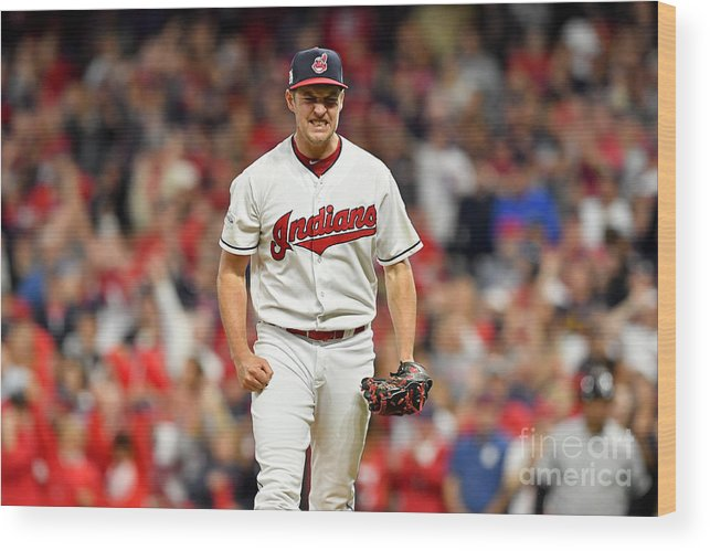 Three Quarter Length Wood Print featuring the photograph Trevor Bauer by Jason Miller