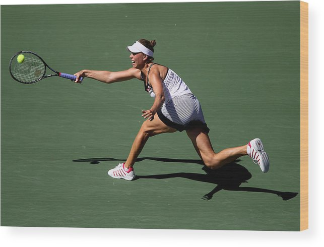 Tennis Wood Print featuring the photograph U.S. Open - Day 10 by Jim McIsaac