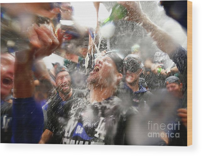 Championship Wood Print featuring the photograph Yasmani Grandal by Jamie Squire