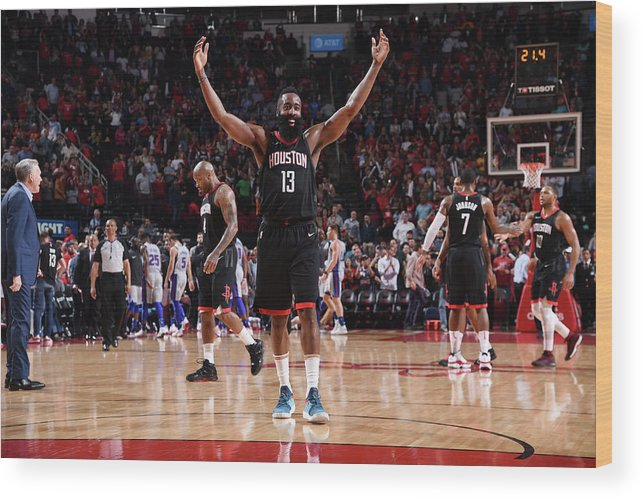 Nba Wood Print featuring the photograph James Harden by Bill Baptist
