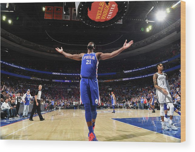 Playoffs Wood Print featuring the photograph Joel Embiid by Jesse D. Garrabrant