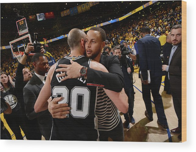 Following Wood Print featuring the photograph Stephen Curry by Noah Graham