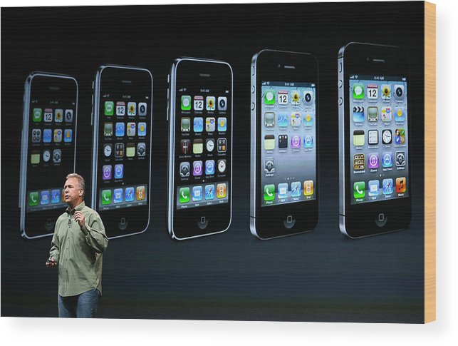 Event Wood Print featuring the photograph Apple Introduces iPhone 5 by Justin Sullivan