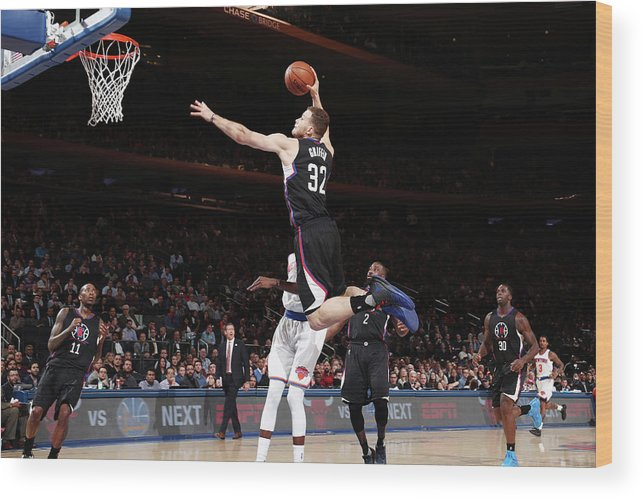 Nba Pro Basketball Wood Print featuring the photograph Blake Griffin by Nathaniel S. Butler