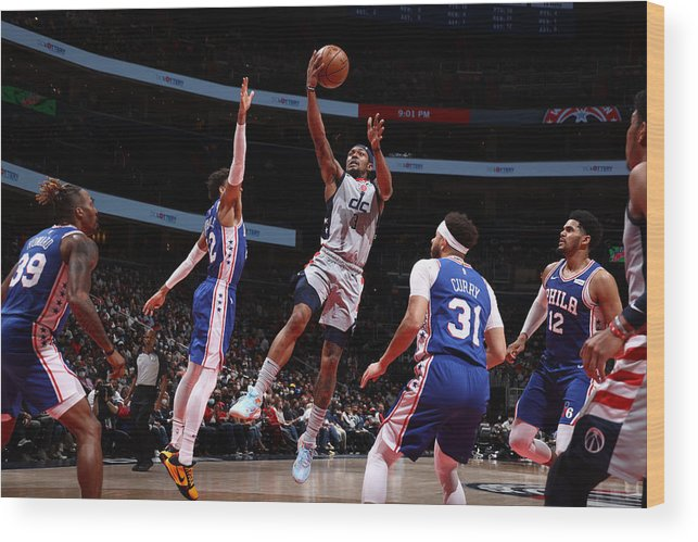 Playoffs Wood Print featuring the photograph Bradley Beal by Stephen Gosling