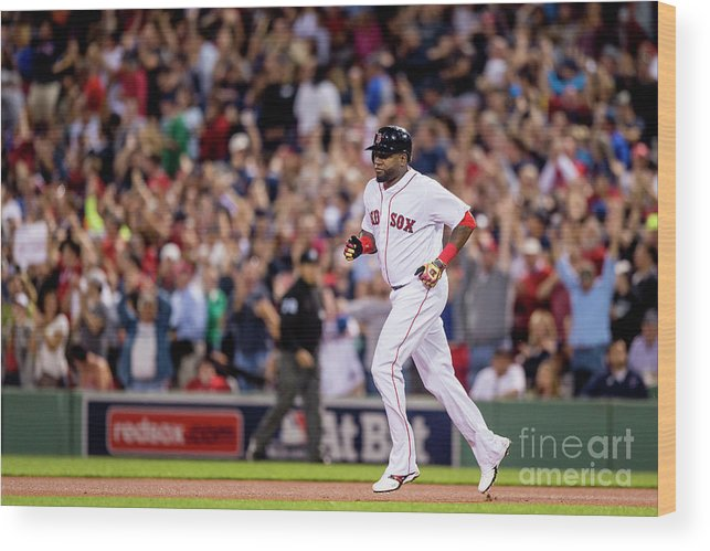 People Wood Print featuring the photograph David Ortiz by Billie Weiss/boston Red Sox