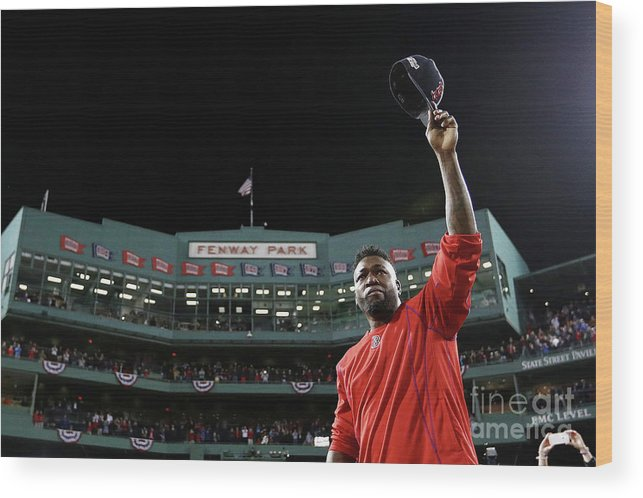 People Wood Print featuring the photograph David Ortiz by Maddie Meyer
