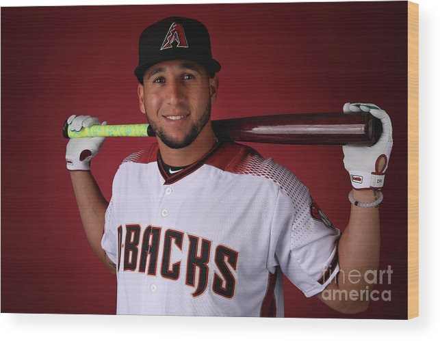 Media Day Wood Print featuring the photograph David Peralta by Christian Petersen