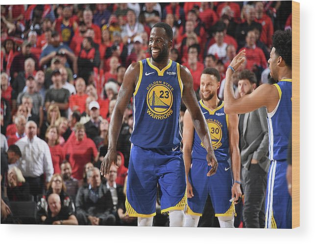 Nba Pro Basketball Wood Print featuring the photograph Draymond Green by Andrew D. Bernstein