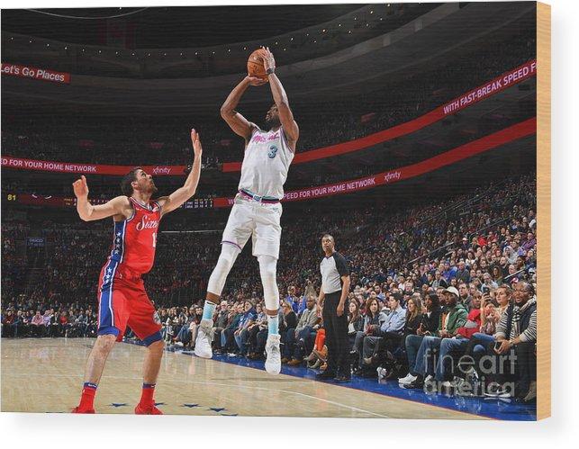 Nba Pro Basketball Wood Print featuring the photograph Dwyane Wade by Jesse D. Garrabrant