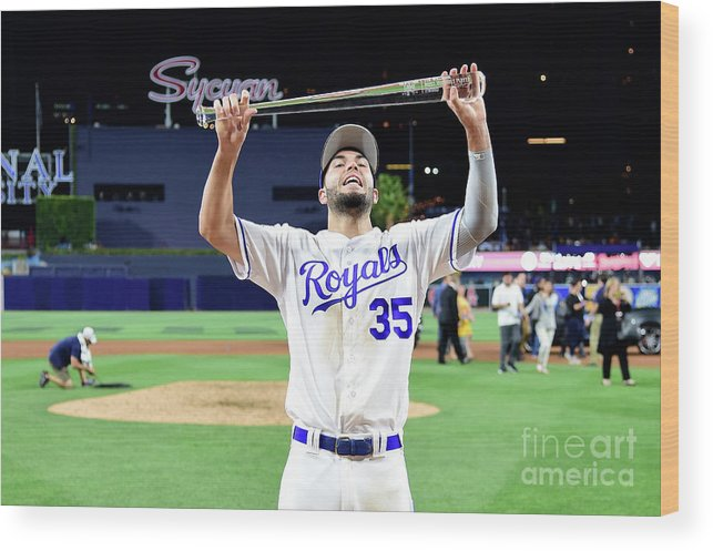 Three Quarter Length Wood Print featuring the photograph Eric Hosmer by Harry How