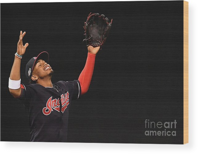 Game Two Wood Print featuring the photograph Francisco Lindor by Jason Miller