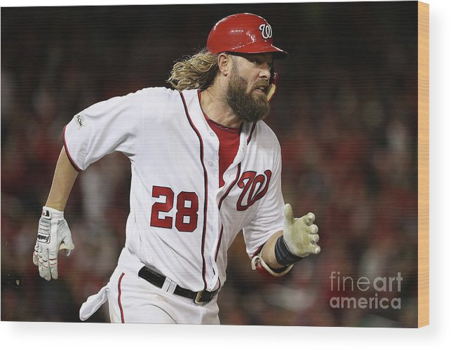 American League Baseball Wood Print featuring the photograph Jayson Werth by Patrick Smith