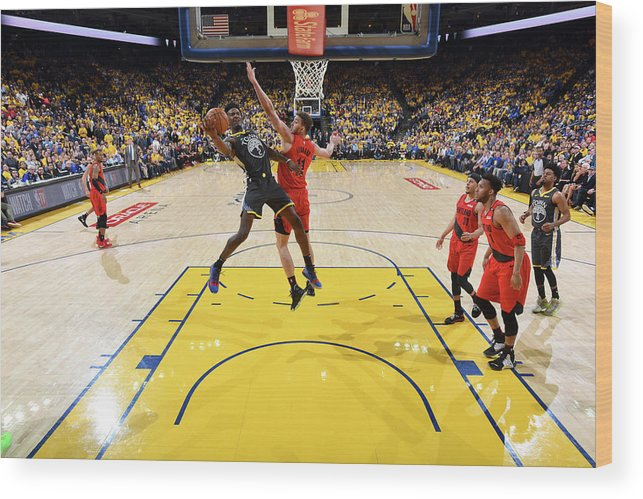 Game Two Wood Print featuring the photograph Jordan Bell by Andrew D. Bernstein