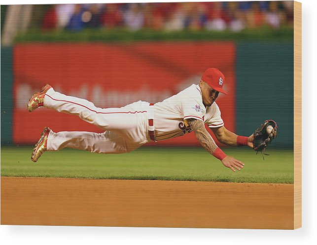 St. Louis Cardinals Wood Print featuring the photograph Kolten Wong by Dilip Vishwanat