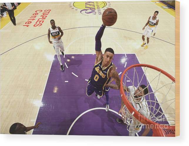Nba Pro Basketball Wood Print featuring the photograph Kyle Kuzma by Andrew D. Bernstein