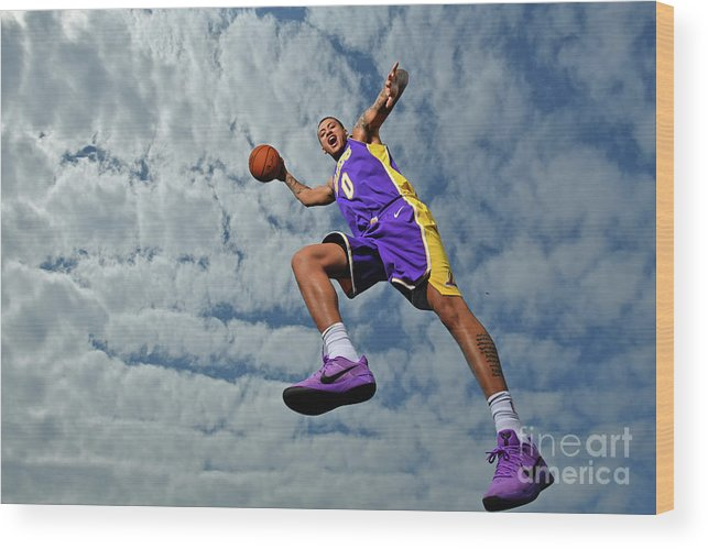 Nba Pro Basketball Wood Print featuring the photograph Kyle Kuzma by Jesse D. Garrabrant