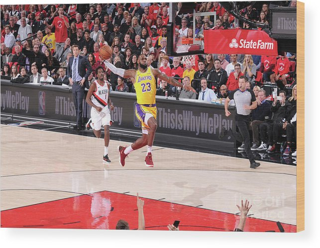 Nba Pro Basketball Wood Print featuring the photograph Lebron James by Sam Forencich