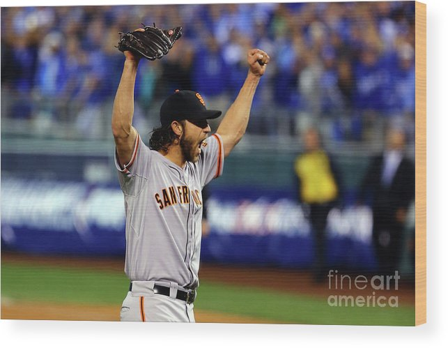 People Wood Print featuring the photograph Madison Bumgarner by Elsa