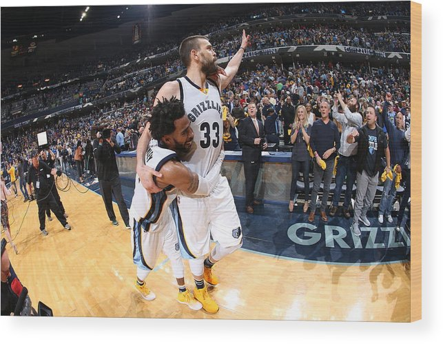 Playoffs Wood Print featuring the photograph Mike Conley by Joe Murphy