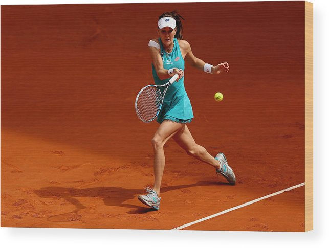 Tennis Wood Print featuring the photograph Mutua Madrid Open - Day Three by Clive Brunskill
