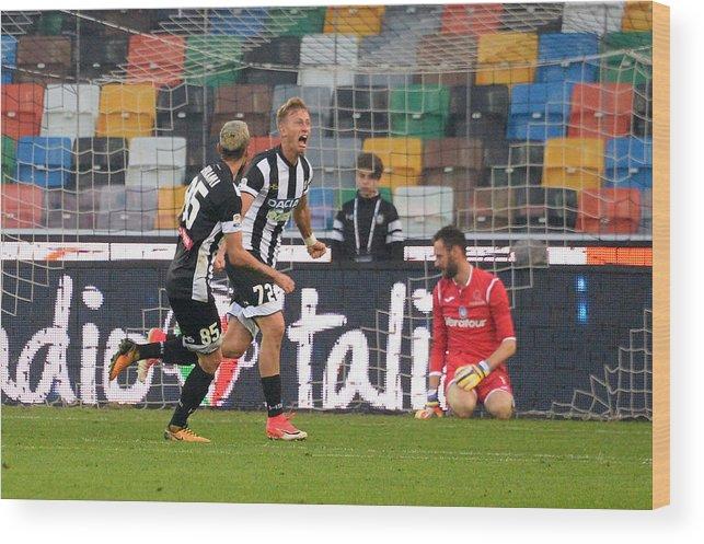 Udine Wood Print featuring the photograph Udinese Calcio v Atalanta BC - Serie A by Dino Panato
