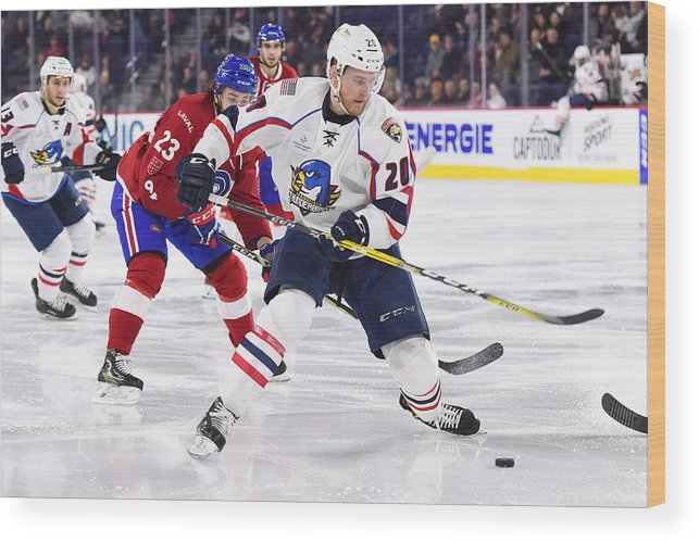 Sport Wood Print featuring the photograph AHL: APR 06 Springfield Thunderbirds at Laval Rocket by Icon Sportswire