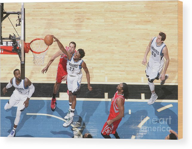 Nba Pro Basketball Wood Print featuring the photograph Andrew Wiggins by David Sherman