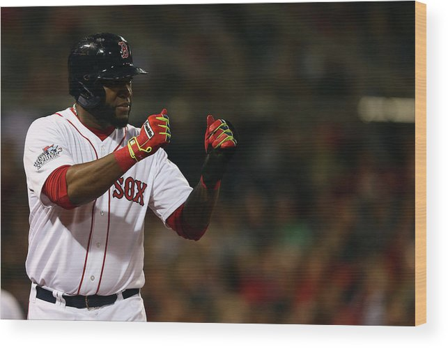 Playoffs Wood Print featuring the photograph David Ortiz by Elsa