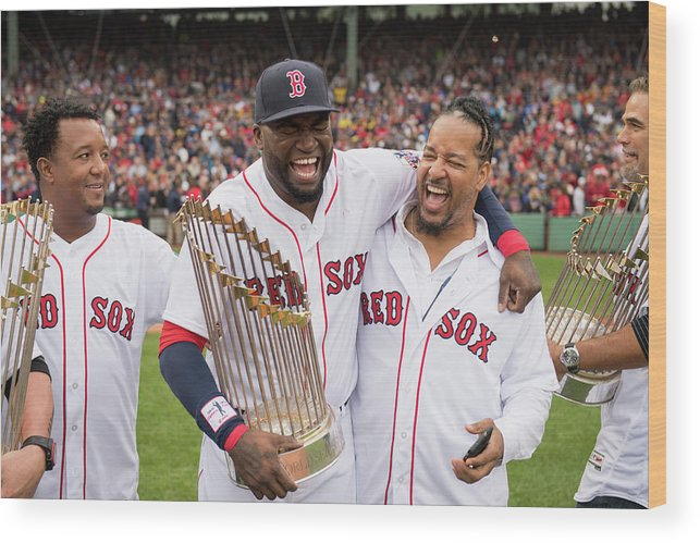 People Wood Print featuring the photograph David Ortiz by Michael Ivins/boston Red Sox