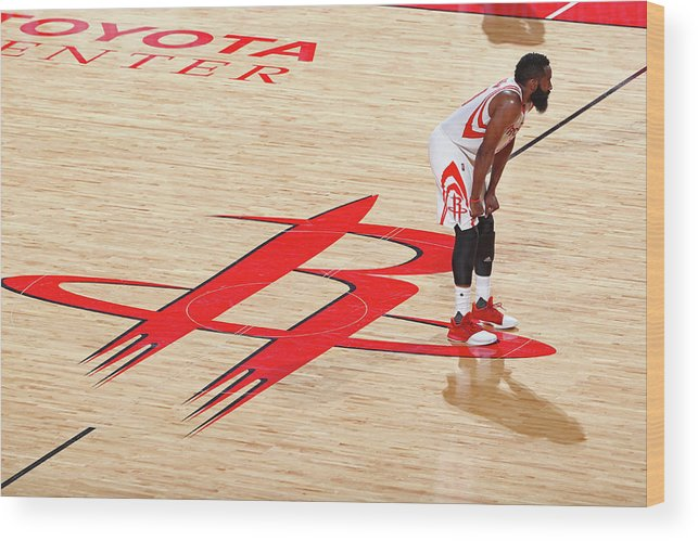Playoffs Wood Print featuring the photograph James Harden by Nathaniel S. Butler
