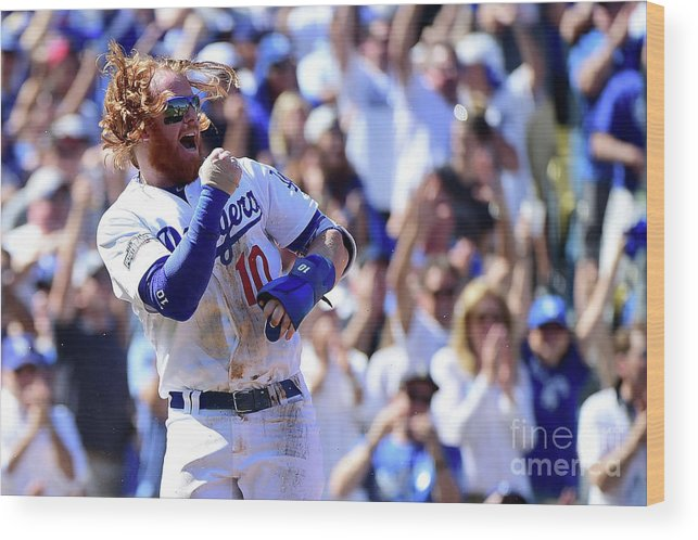 Three Quarter Length Wood Print featuring the photograph Justin Turner by Harry How
