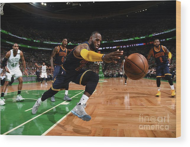 Playoffs Wood Print featuring the photograph Lebron James by Brian Babineau