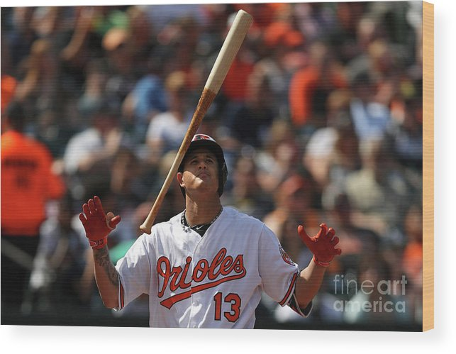 People Wood Print featuring the photograph Manny Machado by Patrick Smith