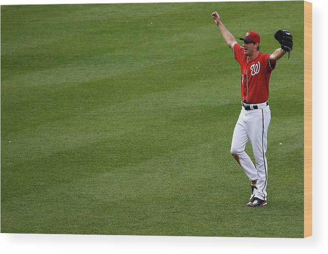 People Wood Print featuring the photograph Max Scherzer by Rob Carr