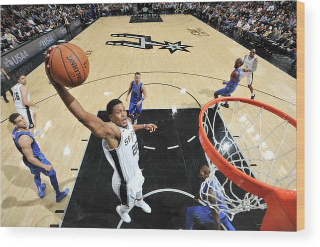 Nba Pro Basketball Wood Print featuring the photograph Rudy Gay by Mark Sobhani