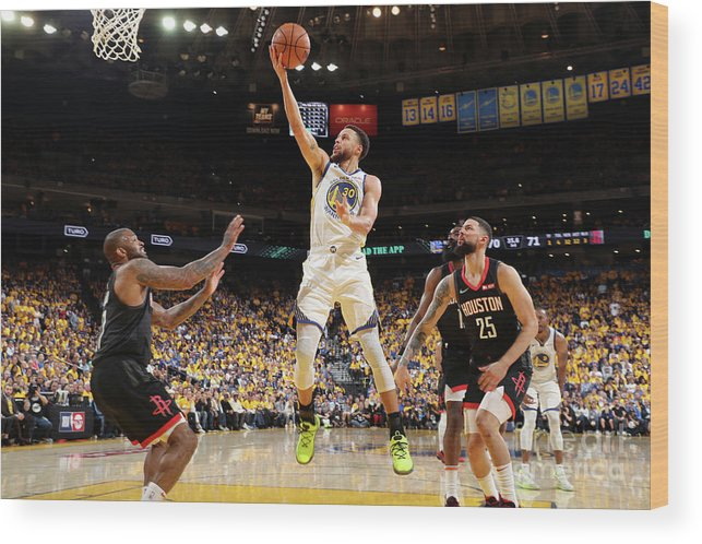 Playoffs Wood Print featuring the photograph Stephen Curry by Joe Murphy