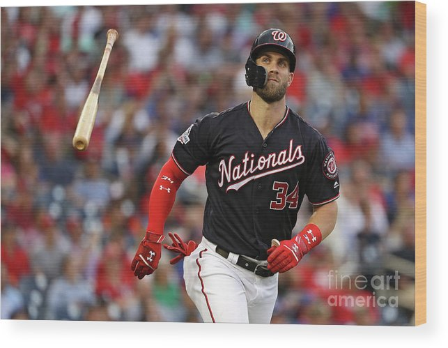 Second Inning Wood Print featuring the photograph Bryce Harper by Patrick Smith