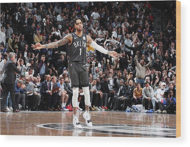 Playoffs Wood Print featuring the photograph D'angelo Russell by Nathaniel S. Butler