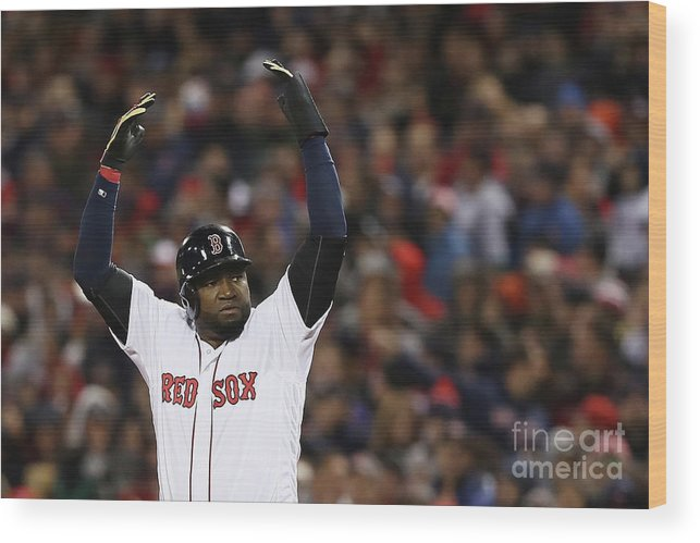 Crowd Wood Print featuring the photograph David Ortiz by Elsa