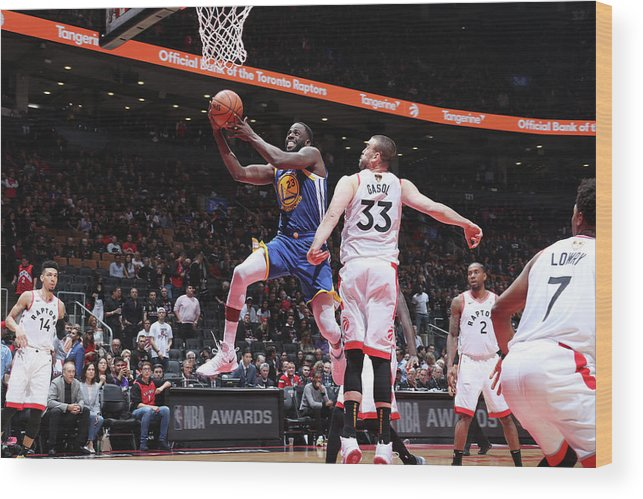 Playoffs Wood Print featuring the photograph Draymond Green by Nathaniel S. Butler