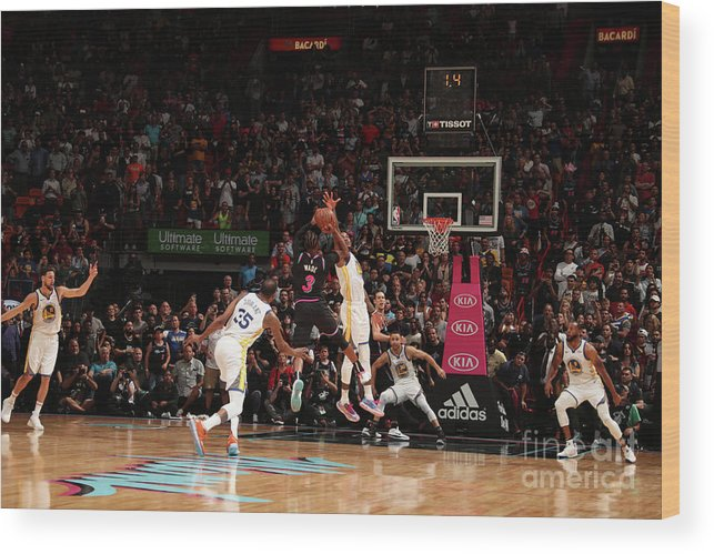 Nba Pro Basketball Wood Print featuring the photograph Dwyane Wade by Issac Baldizon