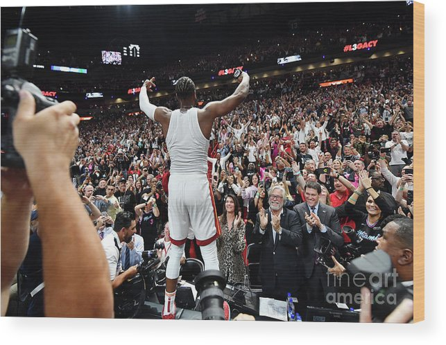 Nba Pro Basketball Wood Print featuring the photograph Dwyane Wade by Jesse D. Garrabrant